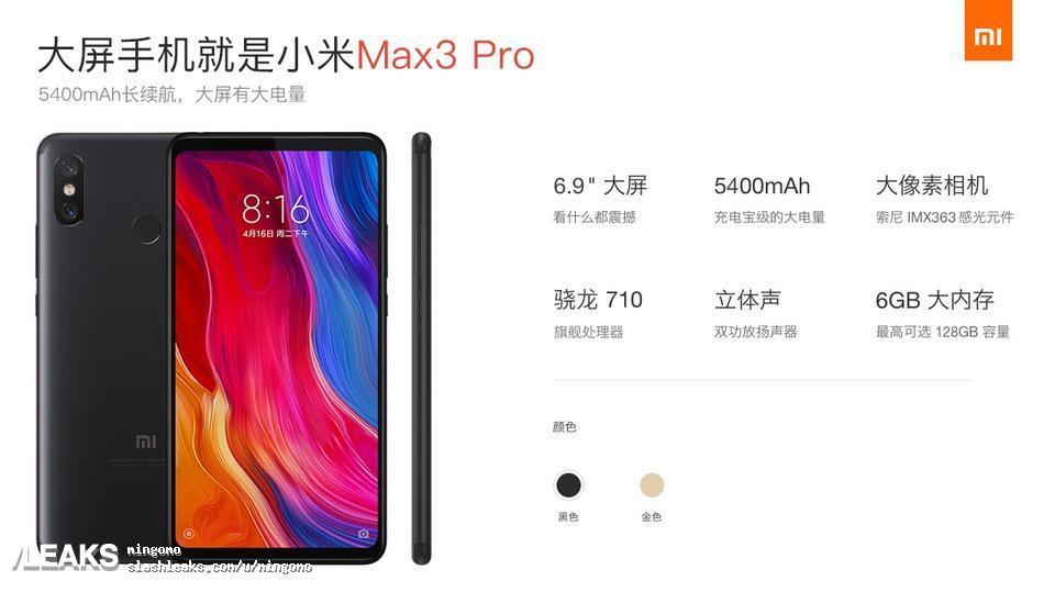 Bild på lådan till Xiaomi Mi Max 3