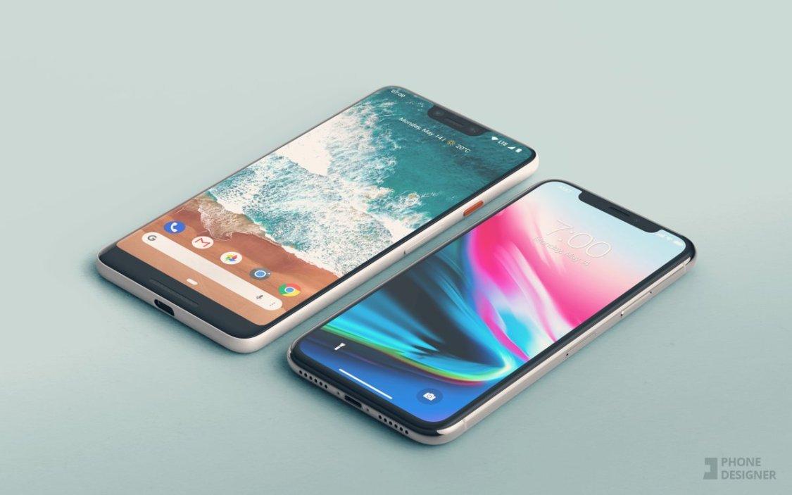 Såhär stor kan Pixel 3 XL vara mot iPhone X