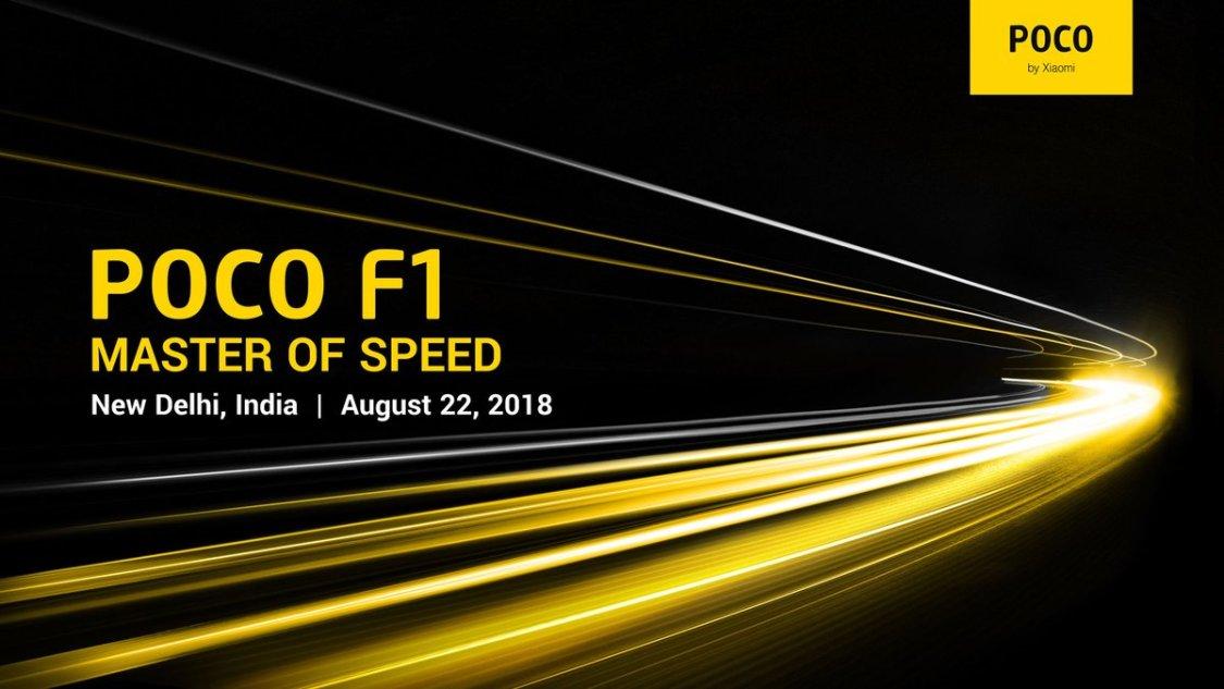 Xiaomi PocoPhone F1 presenteras 22 augusti