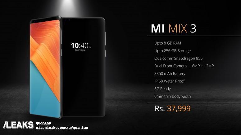 Kan det här vara Xiaomi Mi Mix 3?