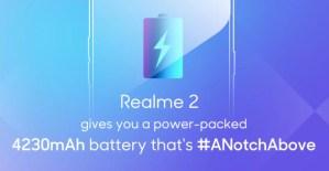 Batterikapaciteten för OPPO Realme 2 avslöjad