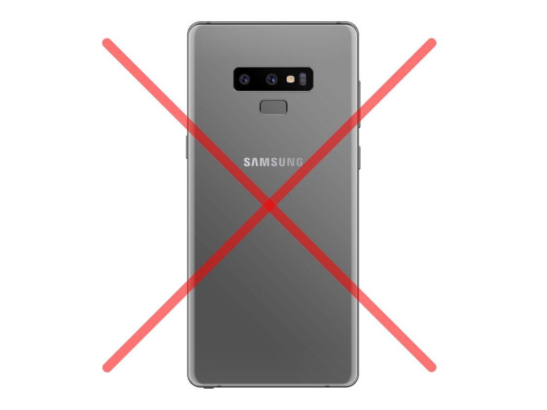 Samsung har avbrutit tillverkningen av Galaxy Note 9 i grått