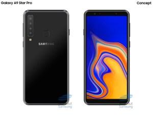 Så här ser Samsung Galaxy A9 Star Pro ut med fyra kameror