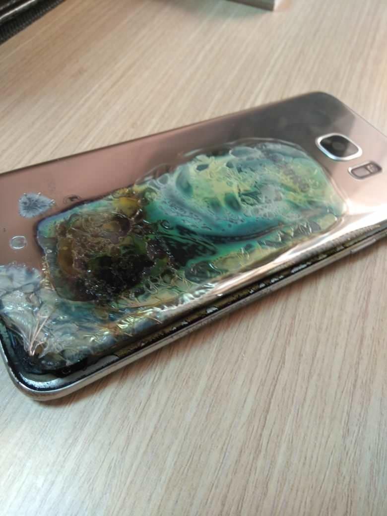 Samsung Galaxy S7 Edge fattade eld