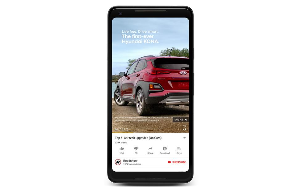 Google uppdaterar YouTube med annonser i porträttläge