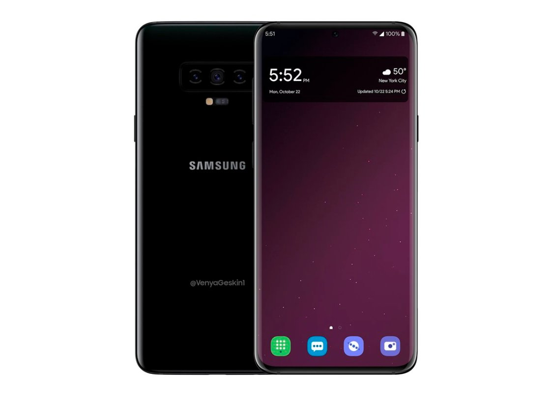 Så här ser Samsung Galaxy S10+ ut med Android 9 Pie