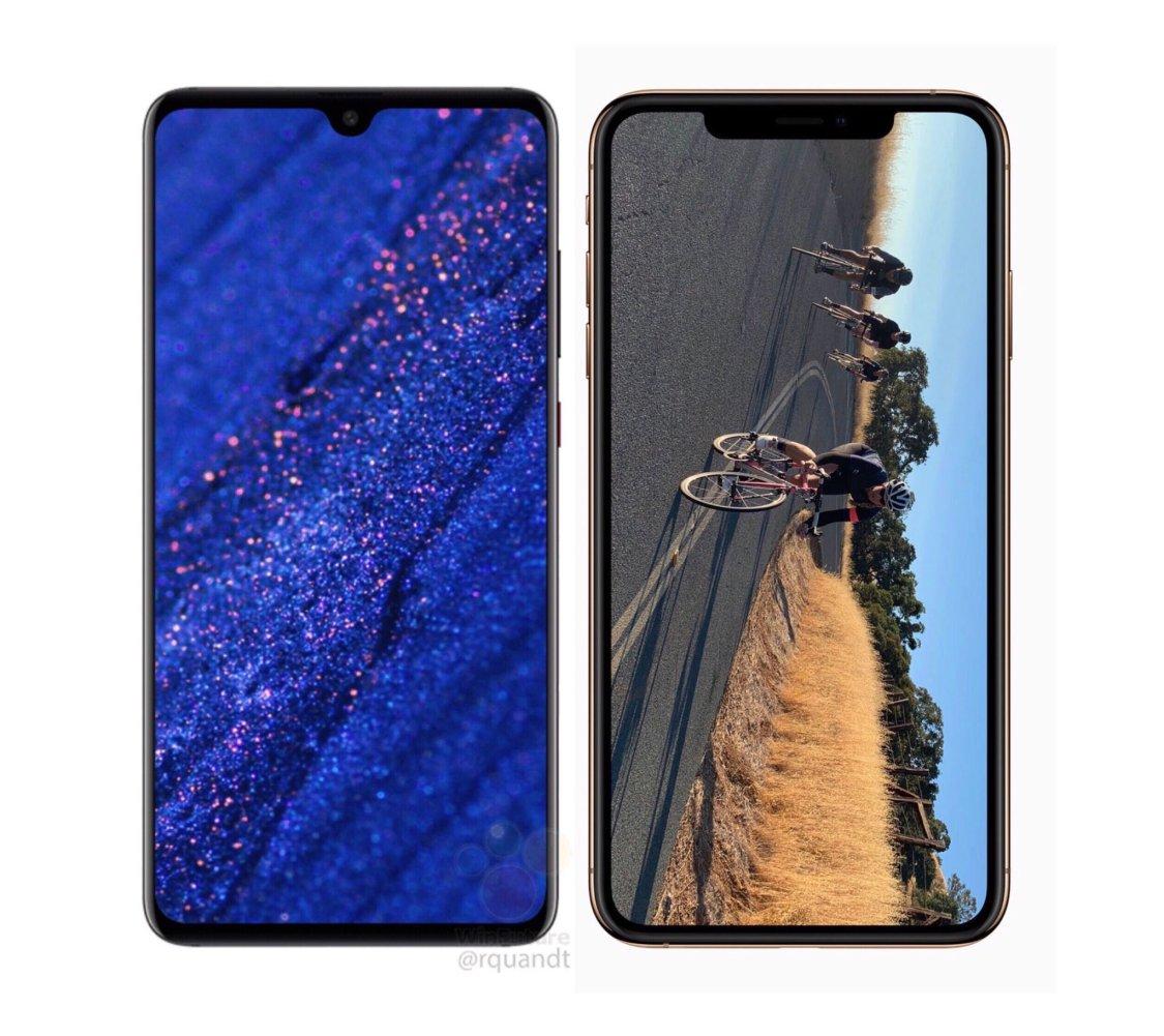 Så stor är Huawei Mate 20 mot iPhone Xs Max