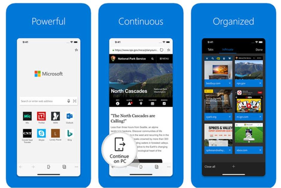 Microsoft Edge förbättras till iOS