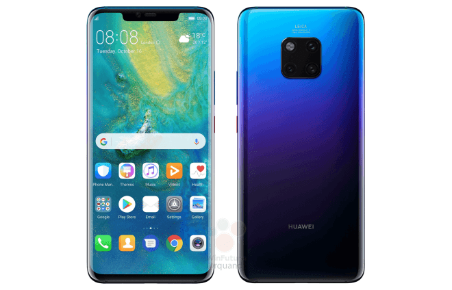 Huawei presenterar flaggskeppet Mate 20 Pro med fingeravtrycksläsare i displayen och ett 4200 mAh-batteri