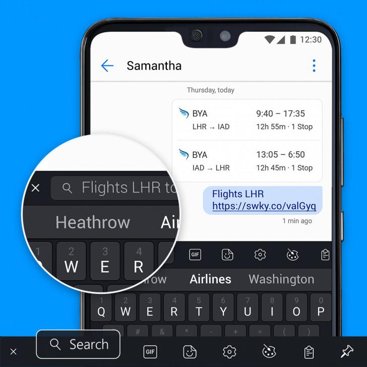 Microsoft SwiftKey får stöd för sökmotorn Bing