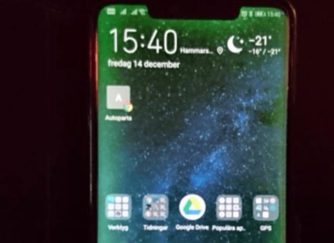 Kolla om din skärm i Huawei Mate 20 Pro är okej i mörkret