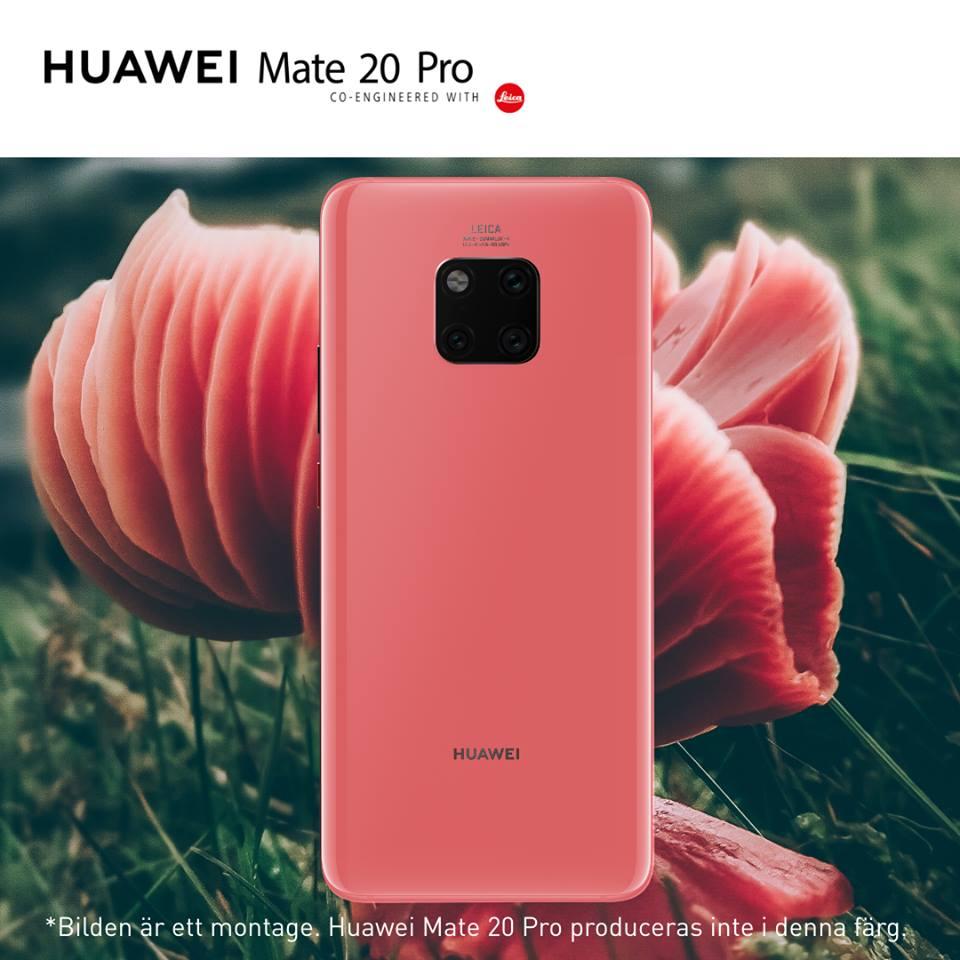 Så här skulle Huawei Mate 20 Pro kunnat sett ut i rosa