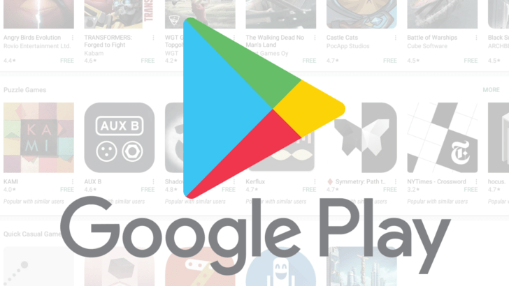 Google Play får ny design
