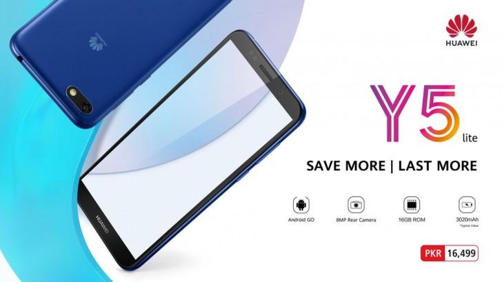 Huawei offentliggör Android One-mobilen Y5 Lite