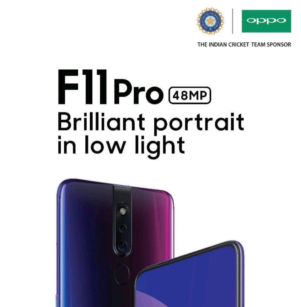 OPPO F11 Pro ser ut att få en främre 48 MP-kamera