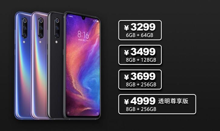 Priset för Xiaomi Mi 9 läcker