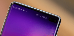 Har Samsung Galaxy S10 problem med en vit prick?