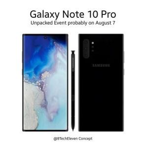 Samsung Galaxy Note 10: nytt koncept dyker upp