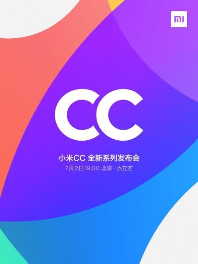 Xiaomi CC9 presteras 2 juli