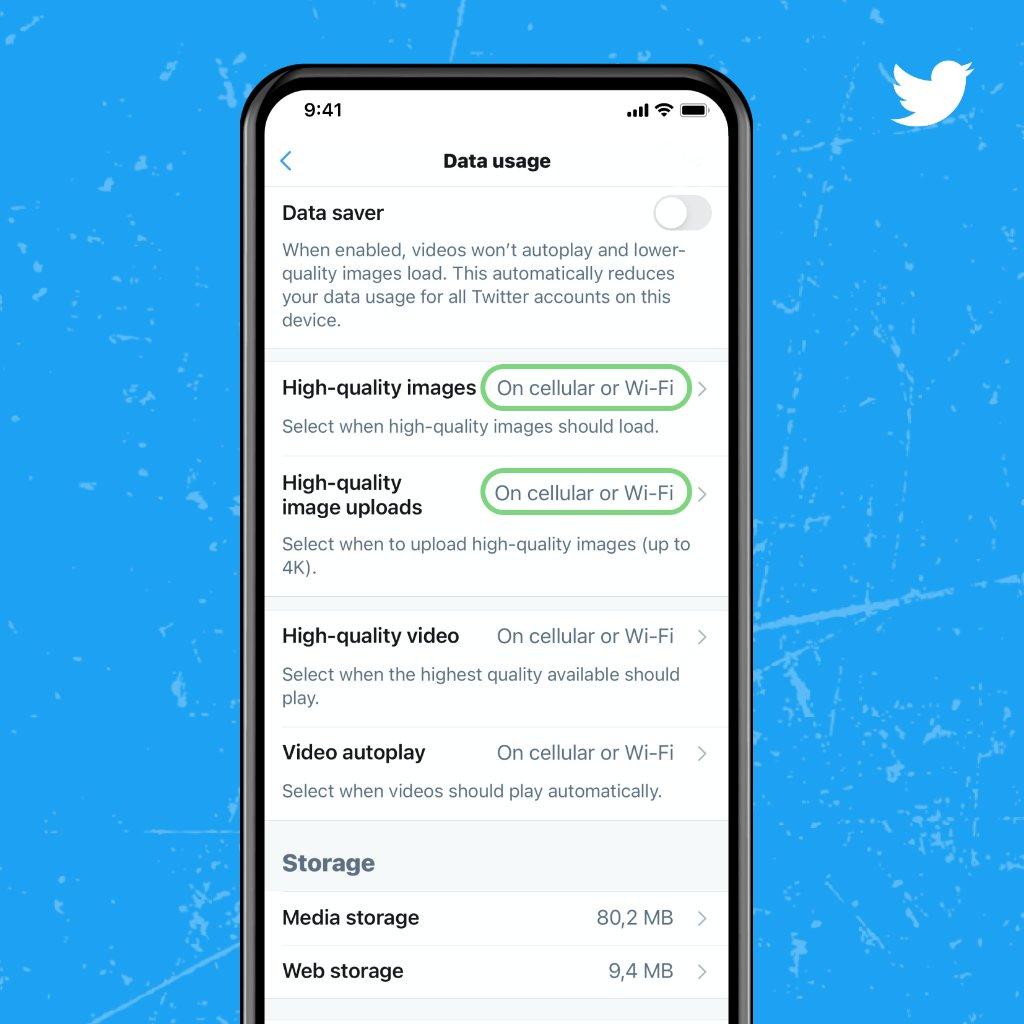Twitter håller på att testa sätt att ladda upp 4K- foton