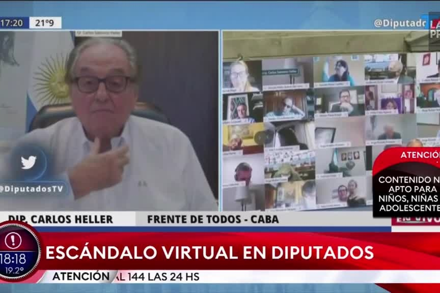 Un député argentin embrasse le sein de sa femme en pleine visioconférence