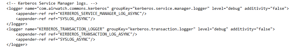 logback.xml settings