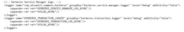 logback.xml settings