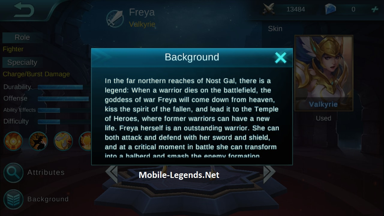 Freya Features 2018 Mobile Legends