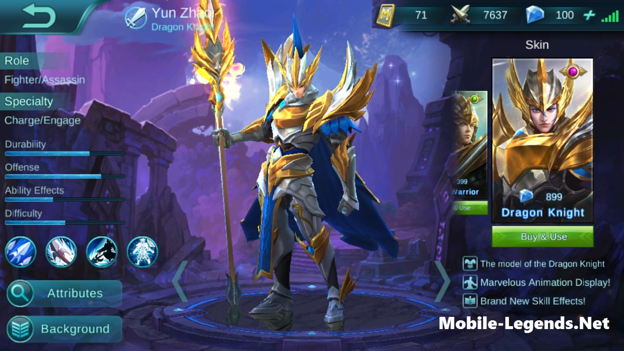 Yun Zhao Features Mobile Legends