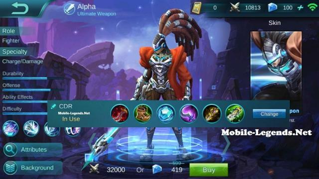 Alpha Guide And CDR Build 2019 Mobile Legends