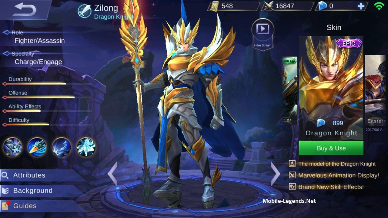 Zilong Gear Guide And Tips Detailed 2018 Mobile Legends