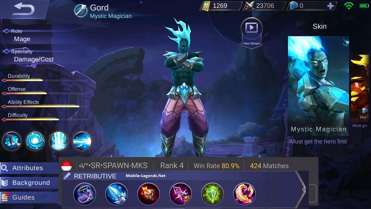 Gord The Retributive Mage Build 2018 Mobile Legends