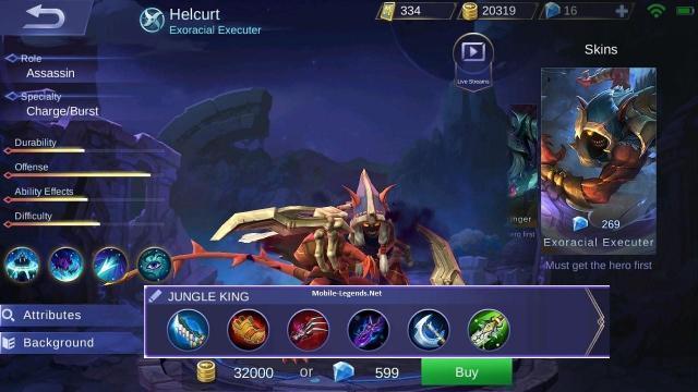 Helcurt Jungle King Damage Build 2018 Mobile Legends