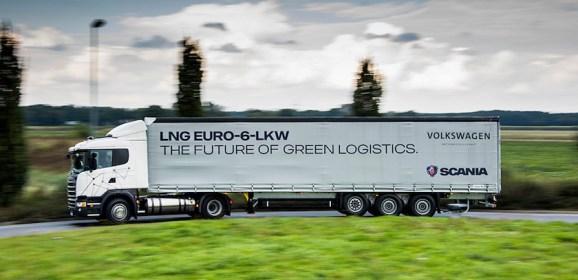Volkswagen Konzernlogistik und Scania machen sich für LNG-Lkw stark