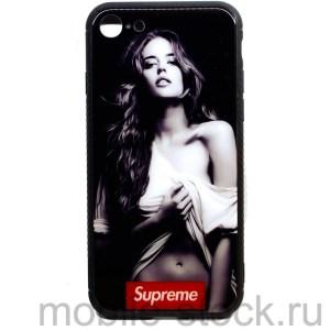 "Чехол Supreme ""Девушка в майке"" для iPhone 7 | iPhone 8"