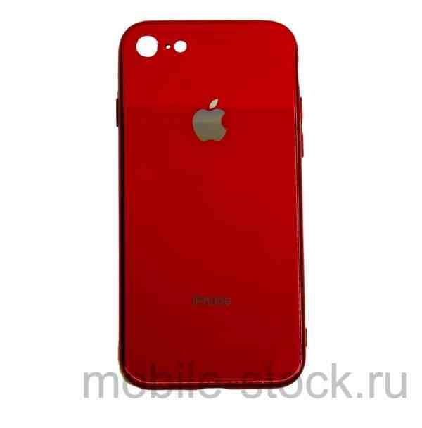 Чехол глянцевый красный из оргстекла для iPhone 7   iPhone 8