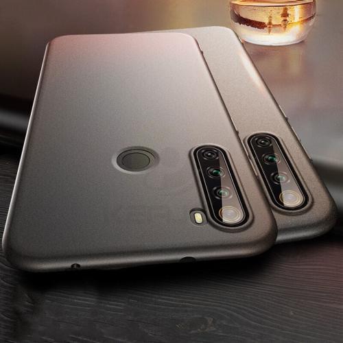 Черный матовый силиконовый бампер Xiaomi Redmi Note 8T