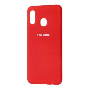 Silicone Cover galaxy A30 красный