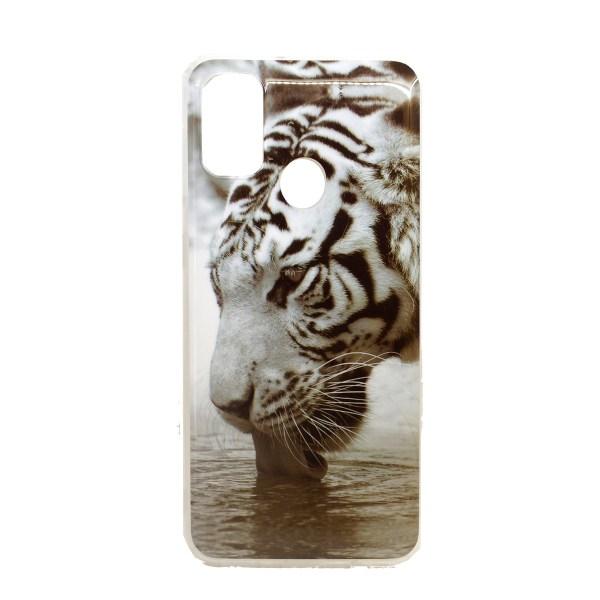 "Чехол виниловый ""Белый тигр"" для Samsung Galaxy M21 | M30s"