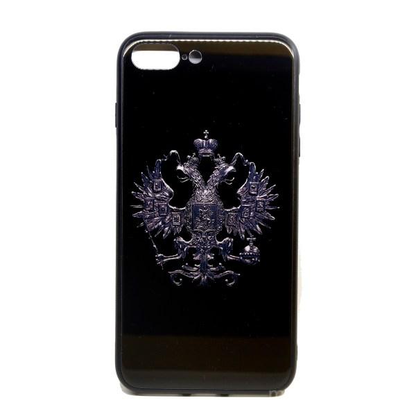 "Чехол из оргстекла ""Герб РФ"" на чёрном фоне для iPhone 7 Plus | 8 Plus"