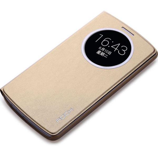 Чехол-книжка ROCK Uni Series для LG G3 золотой