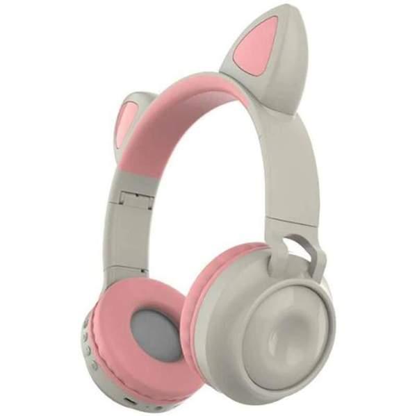 ZW-028 наушники с ушками розовый