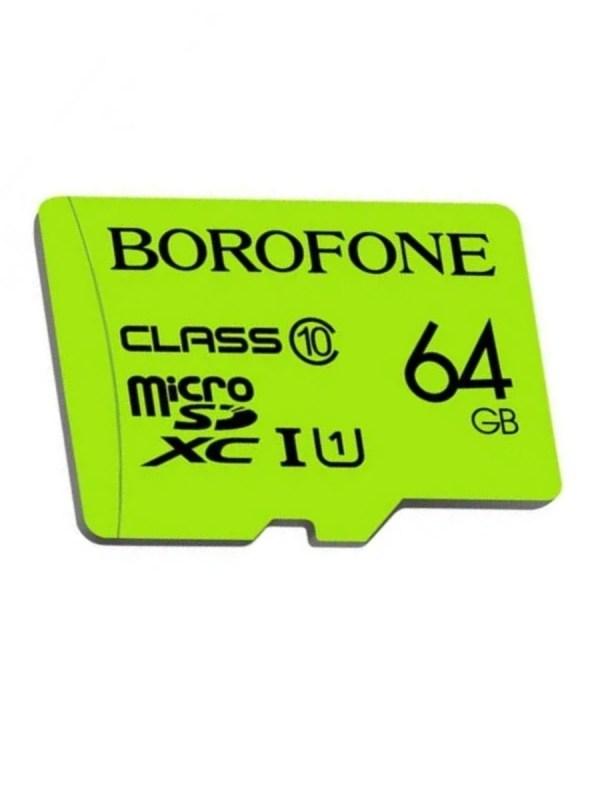 Карта памяти Borofone Micro-SD 64Gb Class 10