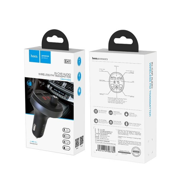 FM трансмиттер HOCO E41 In-Car Audio Wireless FM Transmitter