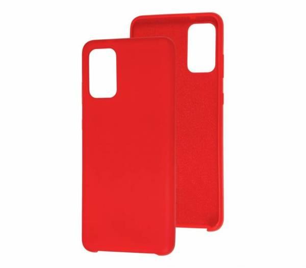 Чехол Silicone cover для Samsung Galaxy A52 красный
