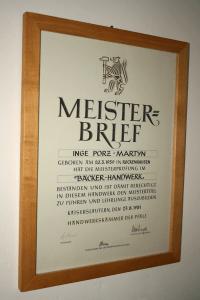 Meisterbrief Bäckerhandwerk