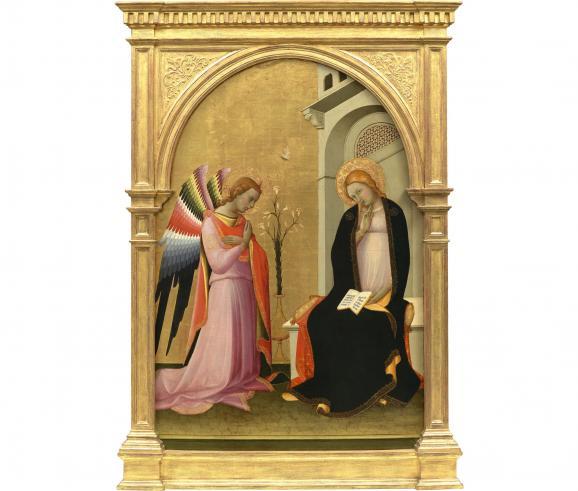 """Lorenzo Monaco, (Florence, vers 1370 – 1425), \""""L'Annonciation\"""", vers 1420-1424, Collection Alana, Newark, DE, États-Unis, Photo"""