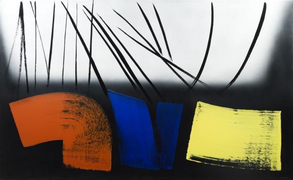 """Hans Hartung, \""""T1973-E12\"""", 1973, Fondation Gandur pour l'Art, Genève"""