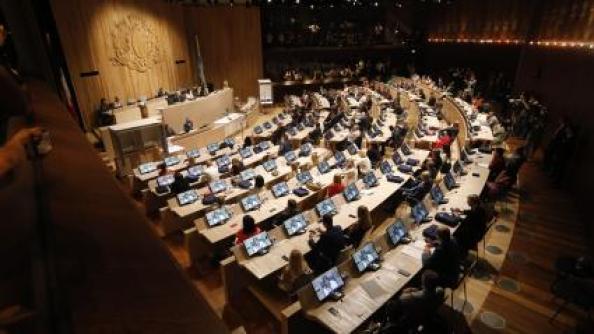 Le conseil municipal de Marseille,à l\'espace Bargemon, le 4 juillet 2020 (photo d\'illustration).