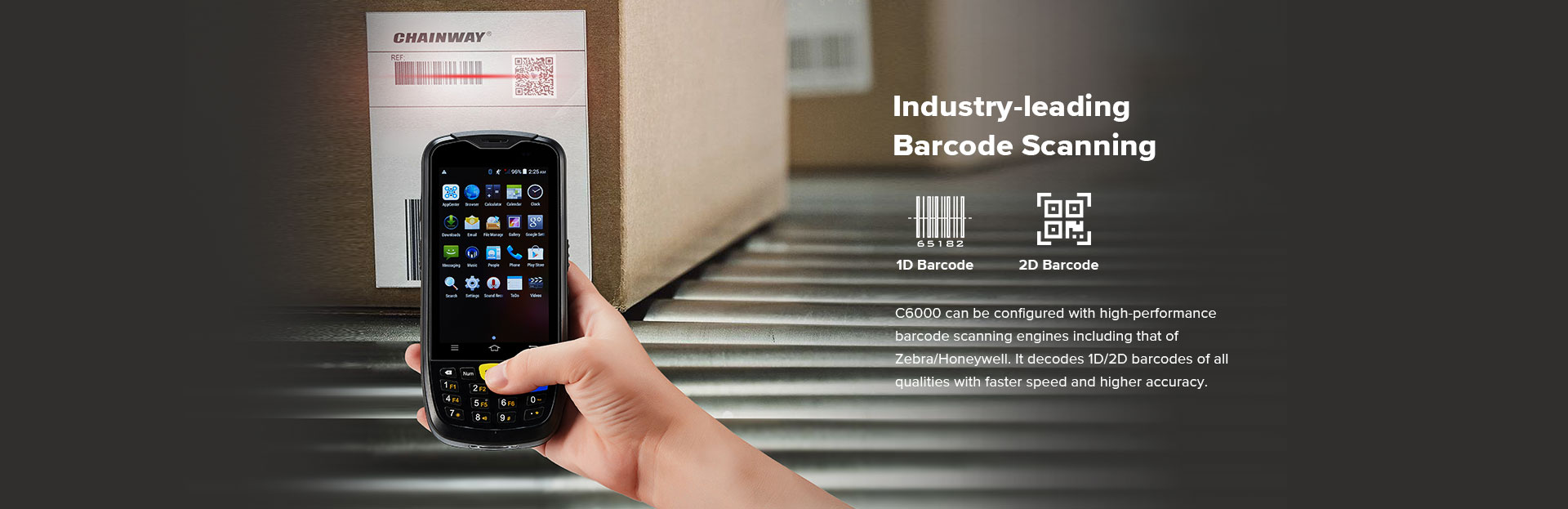 C6000 Rugged Handheld Computer Android - Barcode scanning